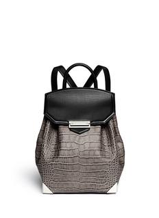ALEXANDER WANG 'Prisma' skeletal crocodileembossed leather backpack
