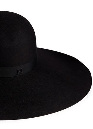 Detail View - Click To Enlarge - Maison Michel - 'Blanche' fur felt capeline hat