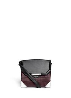 ALEXANDER WANG Prisma croc embossed crossbody bag