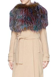 HOCKLEYFeather fox fur shoulder wrap