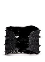 Crocodile rhodium silver cuff