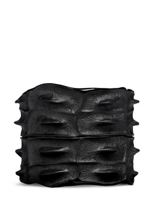 Lynn Ban-Crocodile rhodium silver cuff