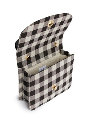 Detail View - Click To Enlarge - Mansur Gavriel - 'Metropolitan' checkered canvas satchel
