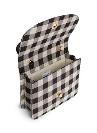 Detail View - Click To Enlarge - Mansur Gavriel - 'Metropolitan' checkered canvas satchel
