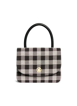 Main View - Click To Enlarge - Mansur Gavriel - 'Metropolitan' checkered canvas satchel