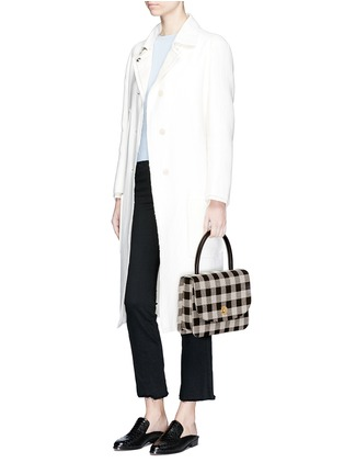 Figure View - Click To Enlarge - Mansur Gavriel - 'Metropolitan' checkered canvas satchel