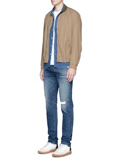 3x1'M3' slim fit distressed jeans