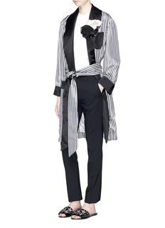 LanvinRosette stripe satin pyjama jacket