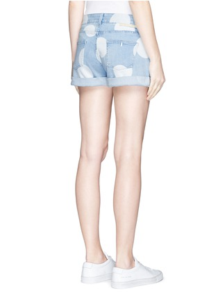 Back View - Click To Enlarge - Stella McCartney - Polka dot print denim shorts