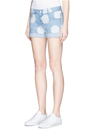 Front View - Click To Enlarge - Stella McCartney - Polka dot print denim shorts