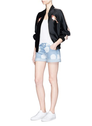 Figure View - Click To Enlarge - Stella McCartney - Polka dot print denim shorts