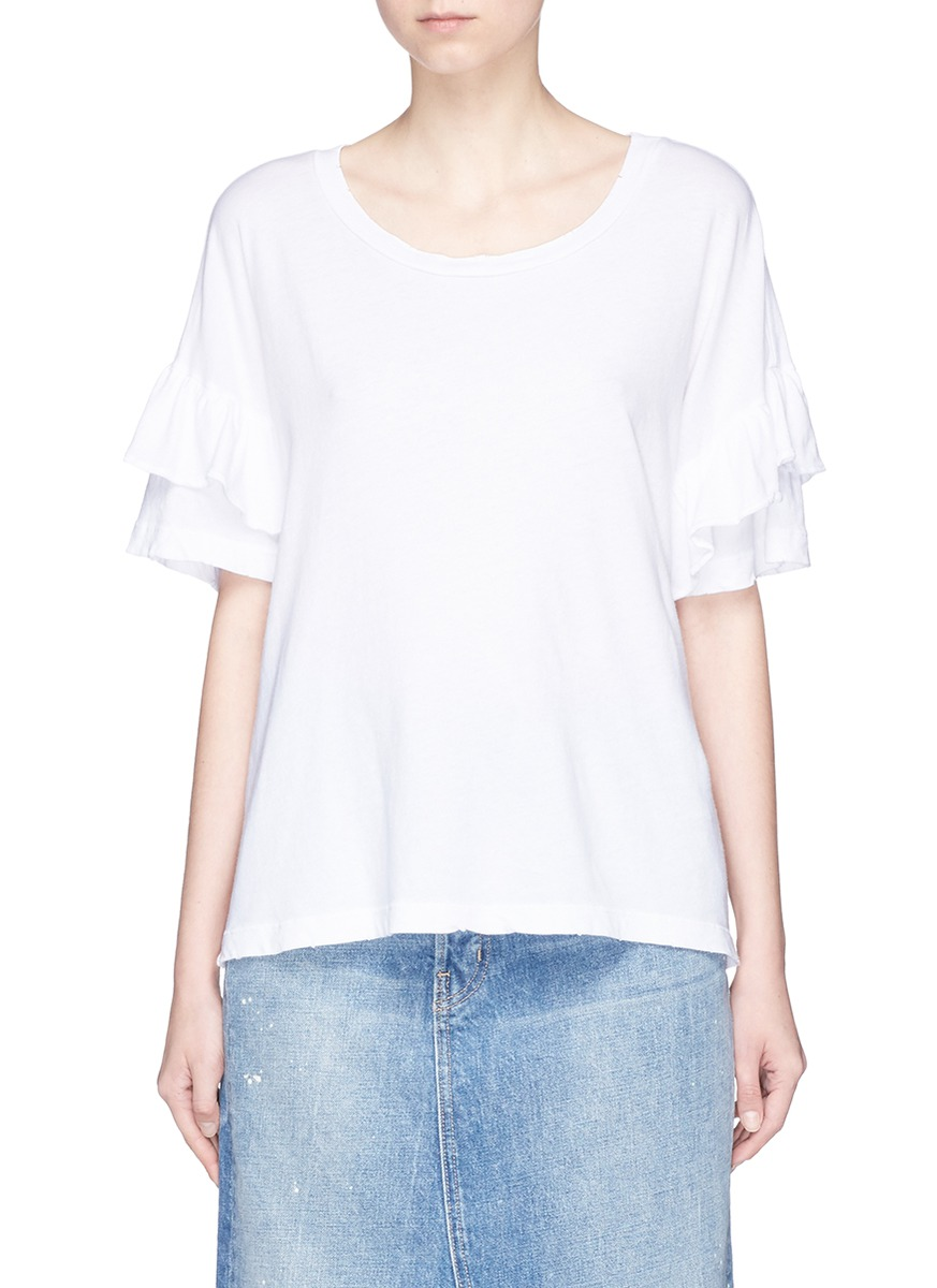 The Ruffle Roadie tiered sleeve T-shirt by Current/Elliott
