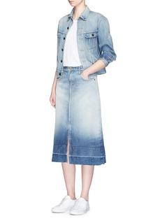 Current/Elliott'The Slit Midi' denim skirt