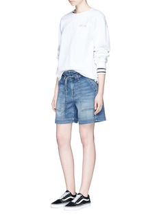 Current/Elliott 'The Chore' belted denim shorts