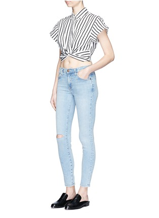 Figure View - Click To Enlarge - Current/Elliott - 'The Highwaist Stiletto' skinny jeans