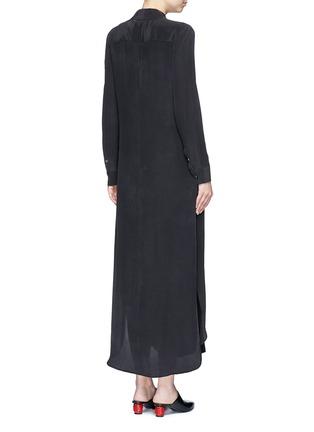 Back View - Click To Enlarge - Equipment - 'Brett' silk crepe maxi shirt dress