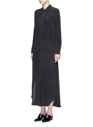 Front View - Click To Enlarge - Equipment - 'Brett' silk crepe maxi shirt dress