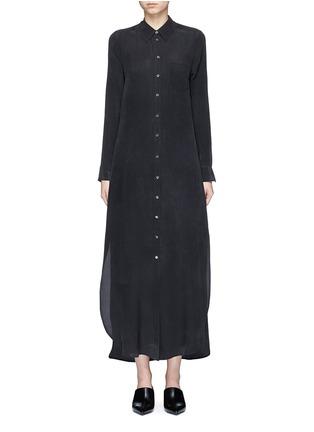 Main View - Click To Enlarge - Equipment - 'Brett' silk crepe maxi shirt dress