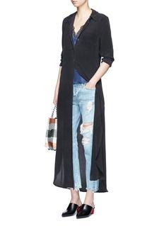 Equipment'Brett' silk crepe maxi shirt dress