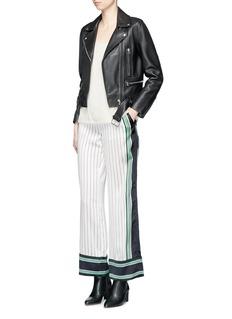 Equipmentx Kate Moss 'Lake' stripe print silk pyjama pants
