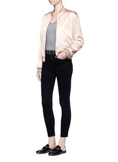 L'Agence'Margot' stud embellished stretch skinny jeans