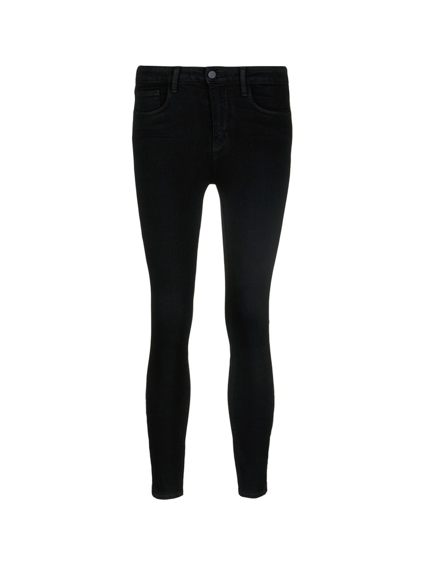 Andrea zip cuff stretch skinny jeans by L'Agence