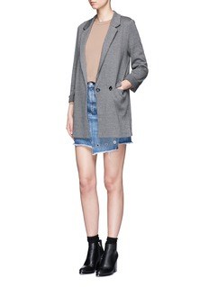 Topshop Double breasted tweed blazer