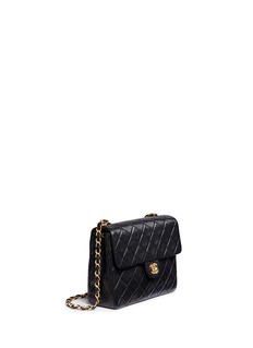 Vintage ChanelSmall quilted lambskin leather flap bag
