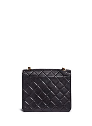 Detail View - Click To Enlarge - Vintage Chanel - Square quilted lambskin leather big CC flap bag