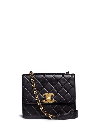 Main View - Click To Enlarge - Vintage Chanel - Square quilted lambskin leather big CC flap bag