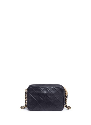 Detail View - Click To Enlarge - Vintage Chanel - Tassel logo quilted leather chain bag