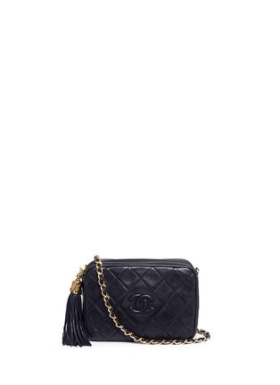Main View - Click To Enlarge - Vintage Chanel - Tassel logo quilted leather chain bag