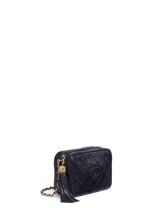 Figure View - Click To Enlarge - Vintage Chanel - Tassel logo quilted leather chain bag