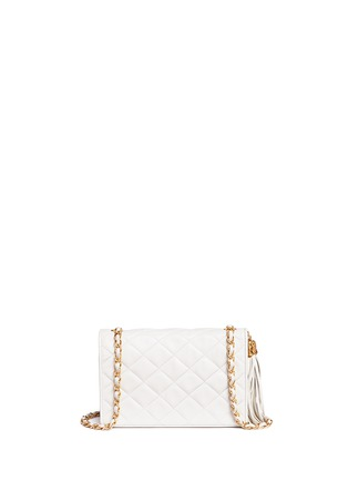 Detail View - Click To Enlarge - Vintage Chanel - Chunky tassel charm quilted leather flap bag