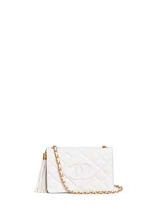 Main View - Click To Enlarge - Vintage Chanel - Chunky tassel charm quilted leather flap bag