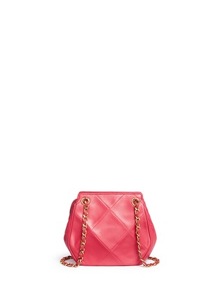 Detail View - Click To Enlarge - Vintage Chanel - Logo quilted lambskin leather chain bag