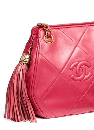 - Vintage Chanel - Logo quilted lambskin leather chain bag