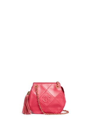 Main View - Click To Enlarge - Vintage Chanel - Logo quilted lambskin leather chain bag