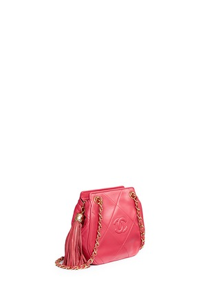 Figure View - Click To Enlarge - Vintage Chanel - Logo quilted lambskin leather chain bag