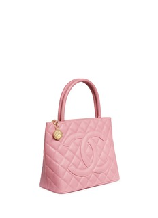 Vintage Chanel Medallion quilted caviar leather tote