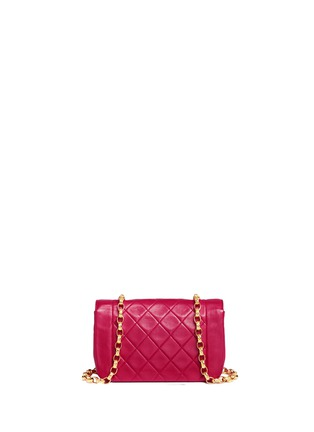 Detail View - Click To Enlarge - Vintage Chanel - Border tab mini quilted leather flap bag