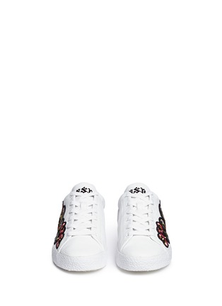 Front View - Click To Enlarge - Ash - Nak' floral embroidered leather sneakers