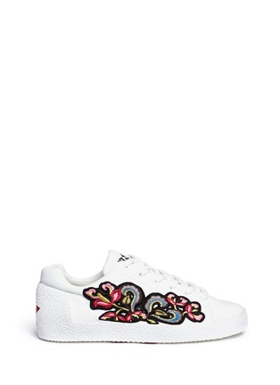 Main View - Click To Enlarge - Ash - Nak' floral embroidered leather sneakers