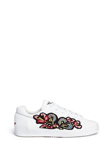 Ash 'Nak' floral embroidered leather sneakers