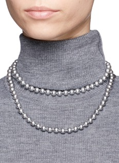 Kenneth Jay LaneGlass pearl long strand necklace