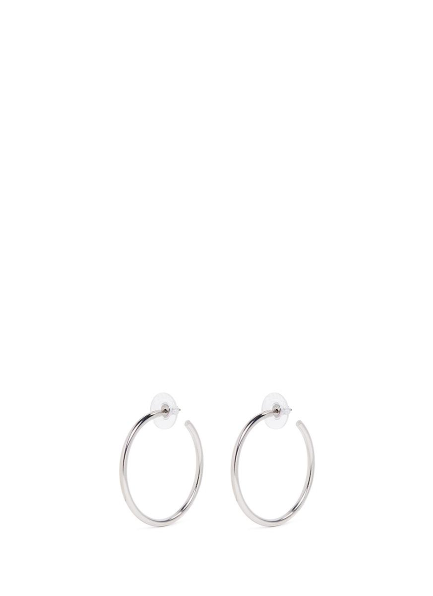 kenneth jay lane female circle hoop earrings
