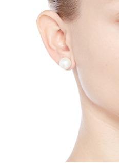 Kenneth Jay Lane Large glass pearl stud earrings