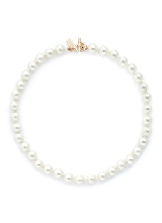 Kenneth Jay Lane Glass pearl choker necklace
