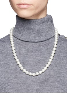 Kenneth Jay Lane Glass pearl strand necklace
