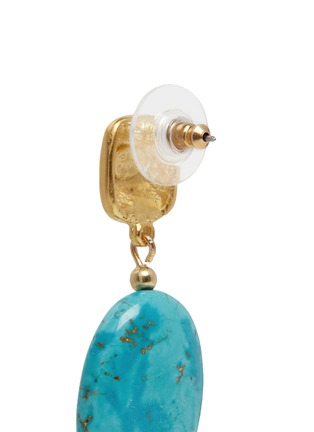 Detail View - Click To Enlarge - Kenneth Jay Lane - Marbled stone drop earrings